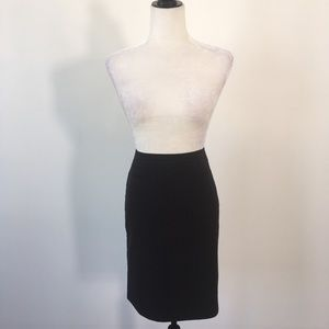 Ann Taylor Loft Black Pin Stripe Skirt